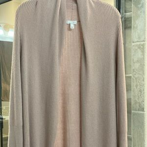 Leith long blush cardigan sweater medium Nordstrom
